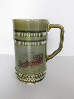 Wade Irish Tankard With Horse And Cart Decoration • 5£