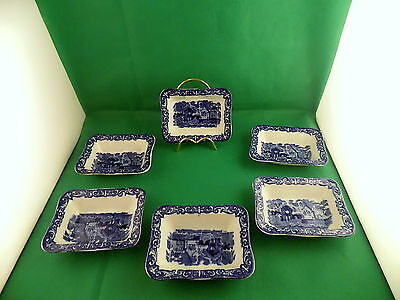 George Jones & Sons Abbey  Small Shredded Wheat Dishes X 6 • 34£