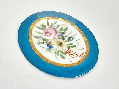 Antique Sevres Floral Painted Plaque 19th C. • 290£