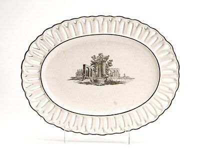 Antique Italian Faience Reticulated Serving Dish 18th C. • 195£
