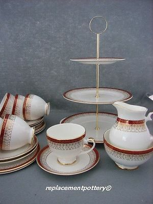 Royal Grafton Red Majestic Tea Set With 3 Tier Cake Stand • 85£