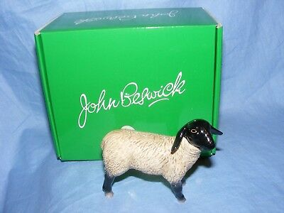 John Beswick Sheep Suffolk Lamb Farmyard JBF80 Figurine Present Gift NEW • 19.80£