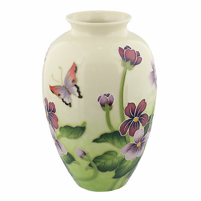 Old Tupton Ware Primrose An Butterfly Vase 8  TW7977 • 45£