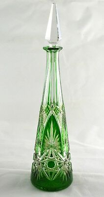 Baccarat 602 Emerald Green Round Decanter - 33cms (13 ) Tall • 299.50£