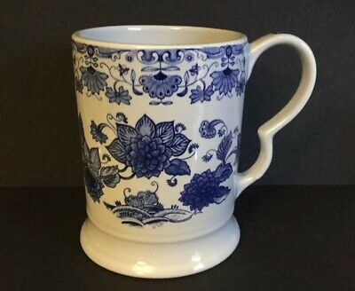 ADAMS.Blue & White.Beer.Tankard.Pint.Pottery.Ironstone • 25£