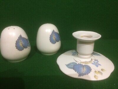 Axe Vale Pottery Devon Salt, Pepper & Candle Holder • 4.95£