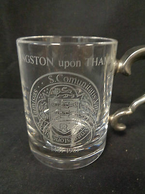 Royale County Lead Crystal  Tankard Royal Charter 500th Anniversary     (SS) • 9.99£