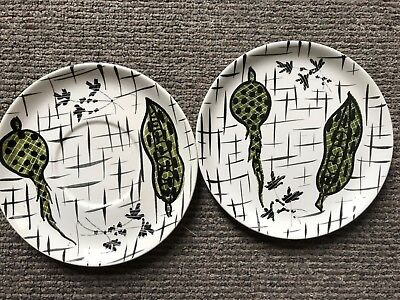 Rare Vintage 1960's Italian Mancioli Hand Painted In Italy Collectable Plate X 2 • 19.99£