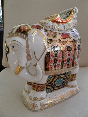 New Retired Large Crown Derby Elephant Boxed • 575£