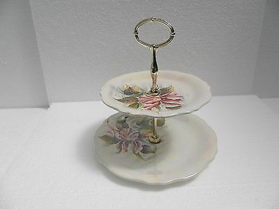 Royal Winton, Grimwades ~ Beautiful Flower Lustreware  Two Tier Cake Stand • 12£