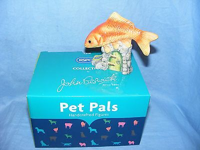 John Beswick Goldfish JBDP2 New Boxed Figurine Birthday Present Gift RSPCA Pet • 24.95£