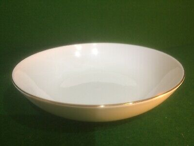 Queen Anne Bone China White & Gold Soup / Cereal Bowl • 6.95£