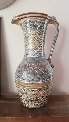 Studio Pottery Extra Large Tall Jug Pitcher Ewer Anvil Pottery Wales  • 35£