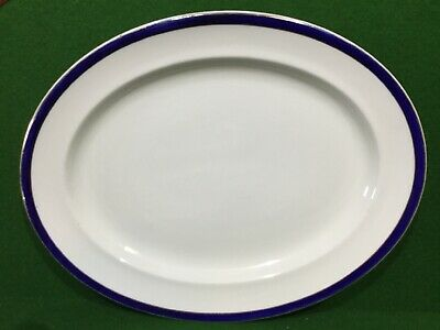 Vintage Blue & White China Oval Meat Dish • 12.50£