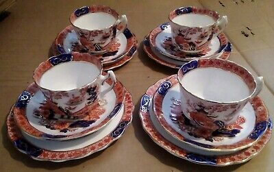 Antique Sutherland China. 12 Piece Tea Set. Imari Pattern With Gold • 30£