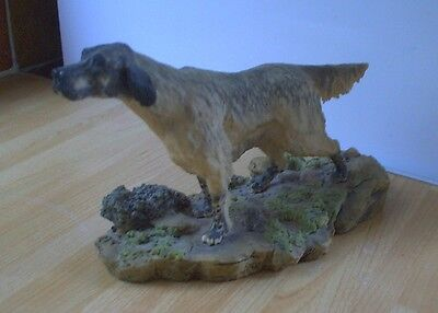 BORDER FINE ARTS ENGLISH SETTER, Rare. Anne Wall 1978 Shabby Chic Vintage Retro • 149.95£