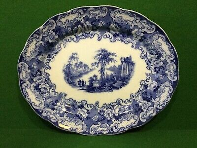 Vintage Blue And White China Oval Meat Dish • 14.95£