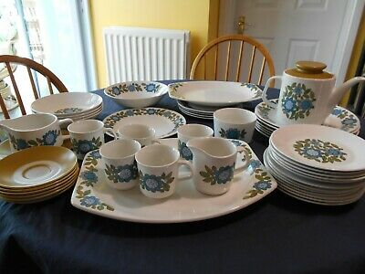 Vintage J And G Meakin Studio Topic-plates, Bowls, Platter, Milk Sugar Gravy • 18£