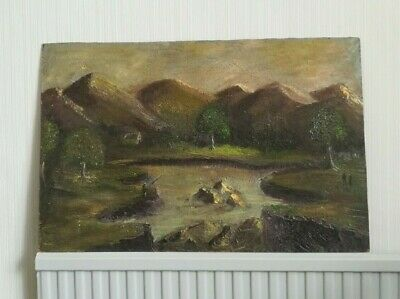 Fantastic And Very Decorative Landscape Painting. Textured Paint Work. Naive Art • 45£