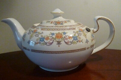 Vintage Aynsley DEVONSHIRE Patterned  2 Pint Teapot -Perfect Unused Condition • 49.99£