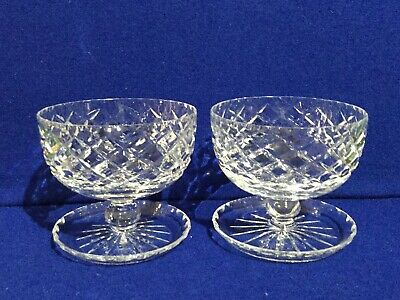 Cut Crystal 2 X Dessert Sundae Dishes • 19.50£