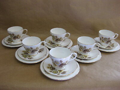 6 Vintage Royal Sutherland & Duchess Cups, Saucers & Plates ~ Mix'n'Match Trios • 39.99£