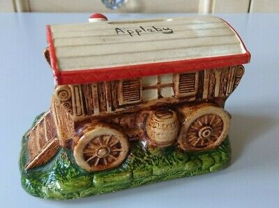 Vintage Manor Ware 1950's Romany Caravan Money Box Appleby • 25£