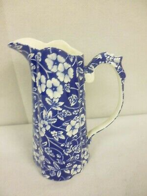 Lord Nelson Ware Blue Chintz Tall Jug - 6  Tall                            (tr) • 12.99£