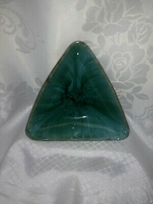 Blue Mountain Ceramic Triangular Dish • 18£