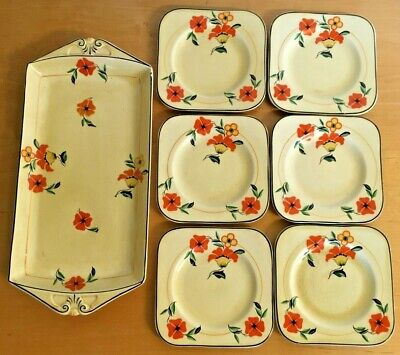 Vintage DBC Sandwich Tray With Plates • 15£