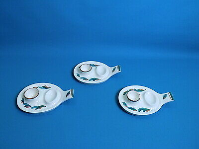 Jersey Pottery Egg Cups & Stands X 3 • 19.90£