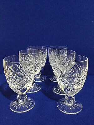 Waterford Crystal 6 X Claret Glasses • 120£