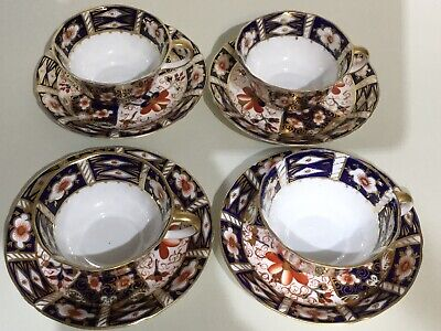 Royal Crown Derby Traditional Imari 4 X Tea Cups & Saucers • 180£