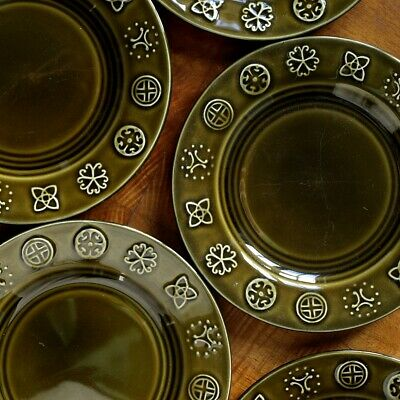 Set Of Six Celtic Vintage Lord Nelson Pottery Side Plates - 351 • 14.99£