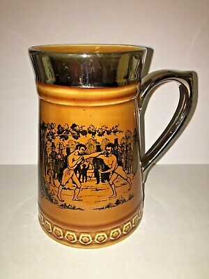 Vintage.Nelson.Pottery.Boxing.Bare Knuckle.Fight.Tankard • 24.99£