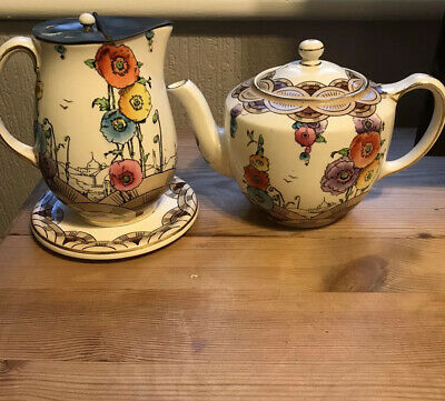 Antique Keeling & Co Losol Ware Tunis Jug Stand And Teapot  • 55£