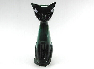 Large Mid Century Modern Blue Mountain Pottery Cat Figurine Made In Canada • 146.54£