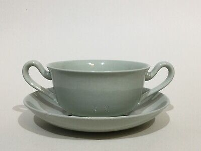 """Spode """" Flemish Green """" Soup Cup & Stand • 7.95£"""