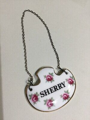 Royal Adderley Bone China Decanter Label - Sherry • 8.95£