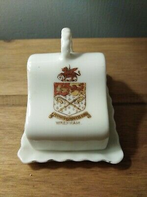 Crested China Wrexham CHEESE Dish And COVER.  • 4£