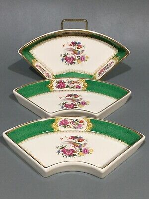 Vintage Booths China  3 X Snack Dishes • 17.95£