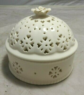 Hartley Greens & Co. ~Leeds Pottery ~Creamware ~Lidded Dish ~ VGC (SC13) • 14.95£