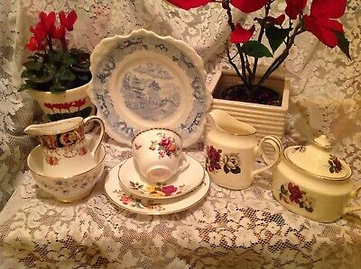 Vintage Mismatched China Cups, Saucers, Plates, Cake Plates  Weddings, Tea Party • 6£