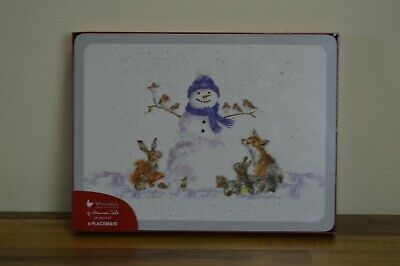Royal Worcester Wrendale Chirstmas 30 X 23 Cm Placemats / Mats - Set Of 6 • 20£