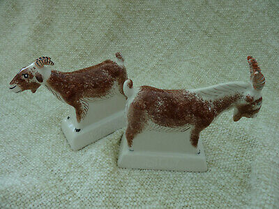 Pair Of Rye Pottery Goats • 65£
