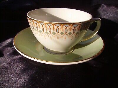 Vintage Grindley Satin White Teacup And Saucer (duo's) • 2.50£
