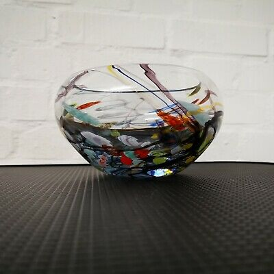 Vintage Rare Signed & Numbered John Ditchfield Glassform Bowl 8in Diam 4in High • 127.27£