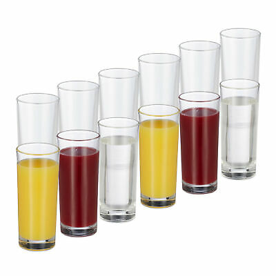 Long Drink Glasses Set Of 12 Glass Set Cocktails 300 Ml Juice Glasses • 40.90£