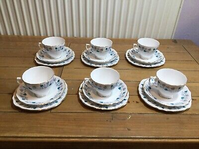 Collection Of Six Royal Vale Bone China Trios, Made In England • 25£