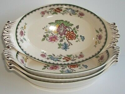 Rare Shape Spode Chinese Rose Serving Dishes / Bowls / Trays X4   • 19.99£